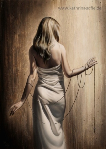 """""""Bound To Fate I"""", oil on canvas, 50 x 70 cm"""
