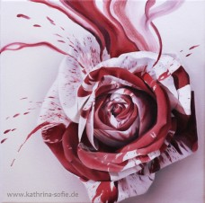 """The Roses of Alice in Wonderland"" oil on canvas 30 x 30 cm"