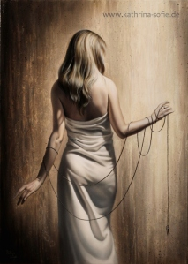 """""""Bound to Fate"""", oil on canvas, 50 x 70 cm"""